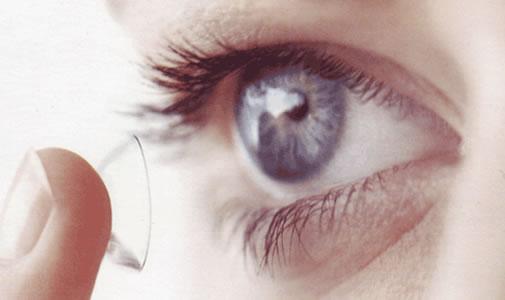 Maquilhagem e lentes de contacto