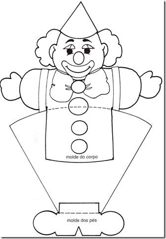 Molde de Palhaço para o Carnaval no jardim infantil