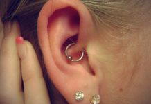 Piercing na orelha