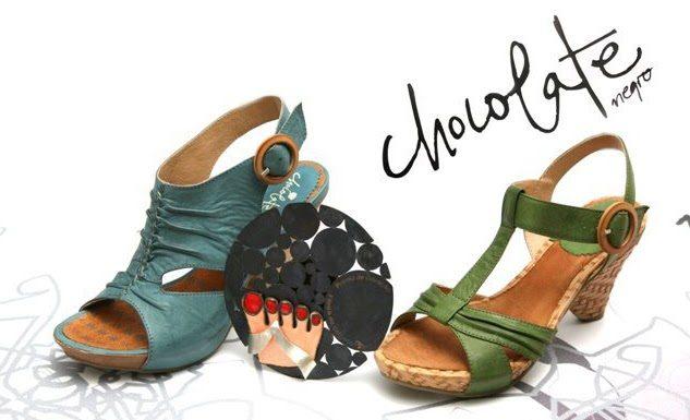 Chocolate negro - sapatos