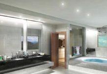 Casa de banho com Leds
