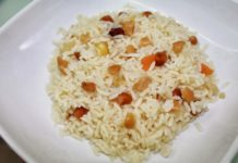 Pudim de arroz e frutos secos