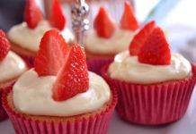Receita de cupcakes de morango