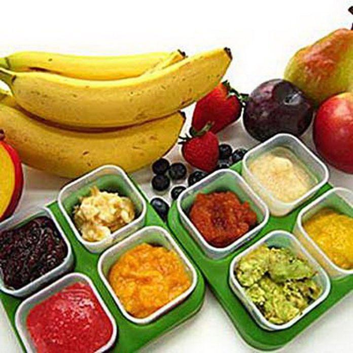 Frutas para bebés - tabela de introdução mês a mês