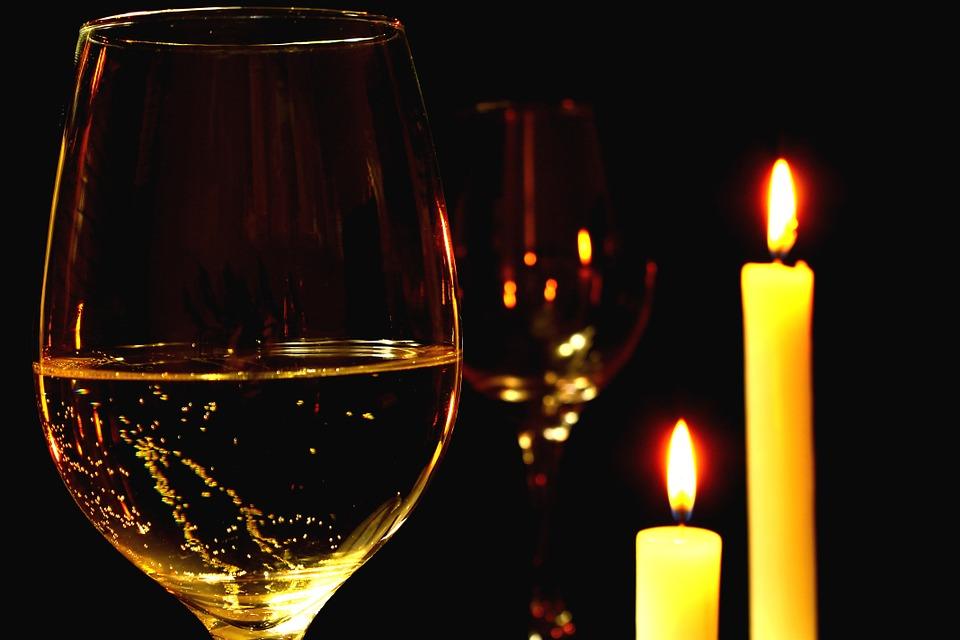 Um jantar romântico em casa