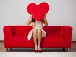 Uma rapariga solteira no Dia de São Valentim