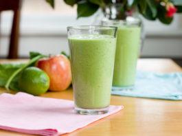 O famoso batido detox verde antioxidante