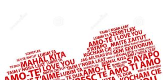 84 línguas diferentes para dizer AMO-TE!