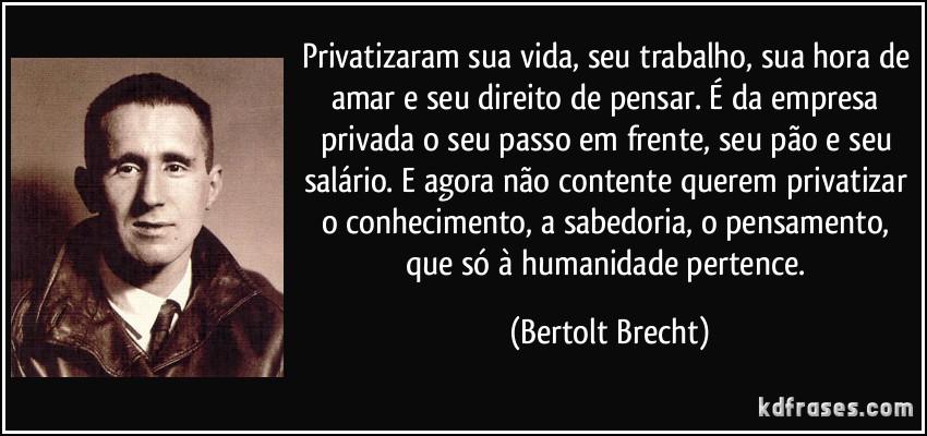 FRase de Bertolt Brecht