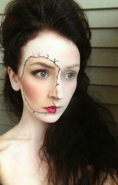 Maquilhagem Halloween - Rosto rasgado