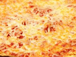 Receita de Pizza Suflê de Calabresa
