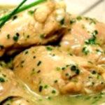 Receita de frango com molho cremoso de coco