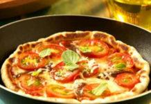 Receita de pizza de aveia light