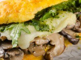 Receita de sanduíche de cogumelos