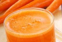 Receita de sumo de ameixa e cenoura