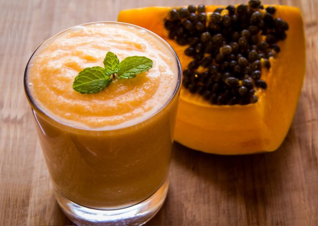 Receita de sumo de papaia e melão