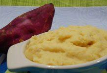 Receita de puré de batata doce