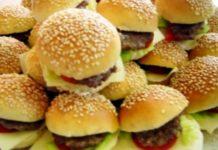 MIni hamburguer para festas