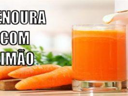 Receita de sumo detox de cenoura e limão
