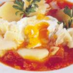 Receita de sopa de tomate com bacalhau
