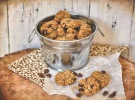 Receita de Cookies de aveia