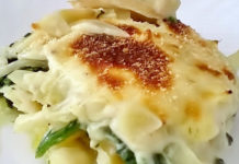 Receita de Bacalhau com espinafres gratinado