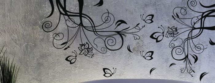 Autocolantes decorativos - tema florais