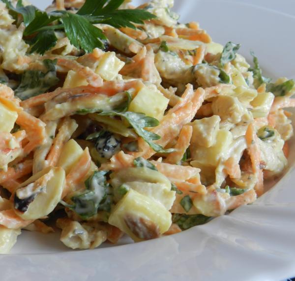 Receita de salada de salpicão de frango tradicional