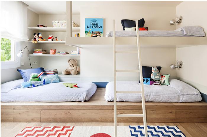 Decorar o quarto das crianças - beliches