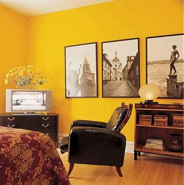 Significado da cor de parede: amarelo