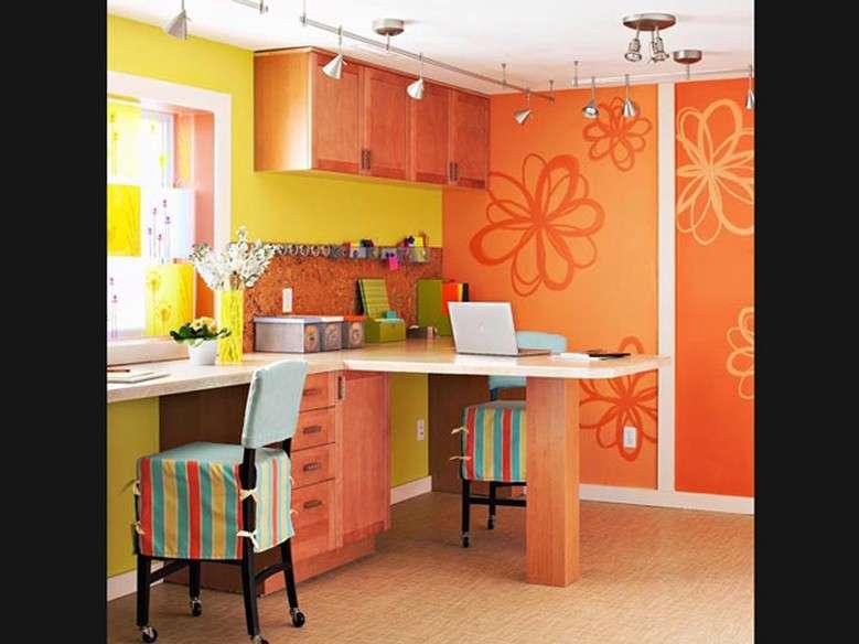 Significado da cor de parede:  laranja