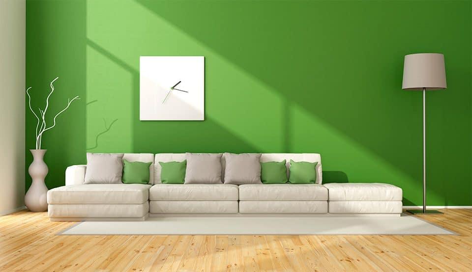 Significado da cor de parede:  verde