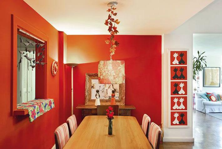 Significado da cor de parede:  vermelho